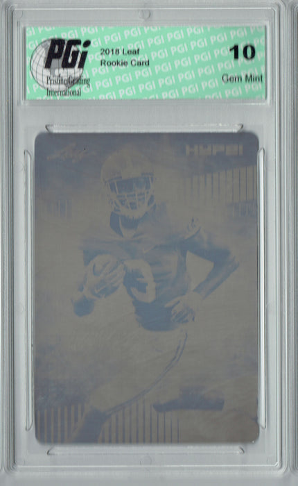 Calvin Ridley 2018 Leaf HYPE! #8 Rare Black Plate 1 of 1 Rookie Card PGI 10