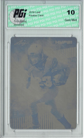 Phillip Lindsay 2018 Leaf HYPE! #12 Rare Black Plate 1 of 1 Rookie Card PGI 10