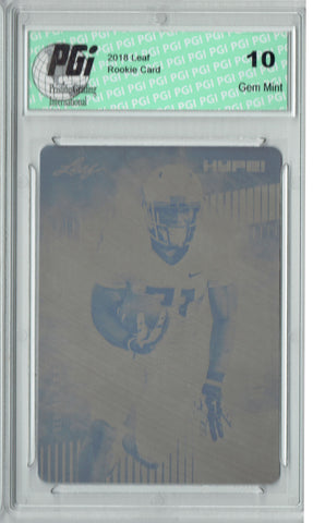 Royce Freeman 2018 Leaf HYPE! #13 Rare Black Plate 1 of 1 Rookie Card PGI 10