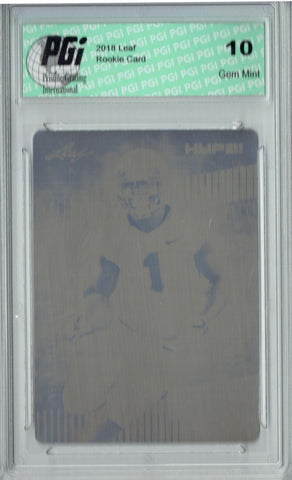 Sony Michel 2018 Leaf HYPE! #7A Rare Black Plate 1 of 1 Rookie Card PGI 10