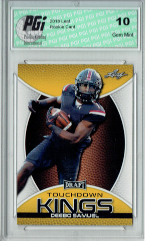 Deebo Samuel 2019 Leaf Draft #81 Touchdown Kings Gold SP Rookie Card PGI 10