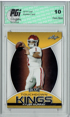 Kyler Murray 2019 Leaf Draft #SP-KM3 Touchdown Kings Gold SP Rookie Card PGI 10