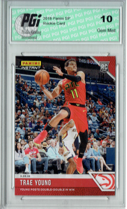 Trae Young 2018 Panini Instant #126 Only 86 Made Rookie Card PGI 10