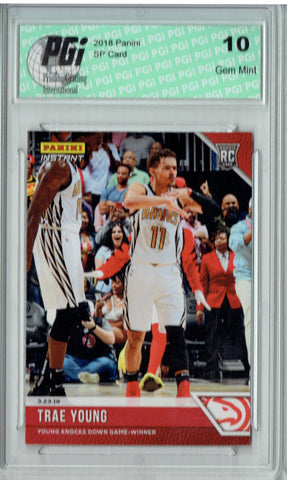 Trae Young 2018 Panini Instant #123 Only 86 Made Rookie Card PGI 10
