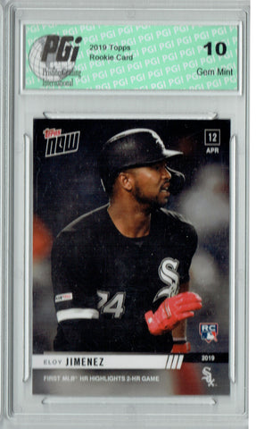 Eloy Jimenez 2019 Topps Now #77 Only 1,110 Made Rookie Card PGI 10
