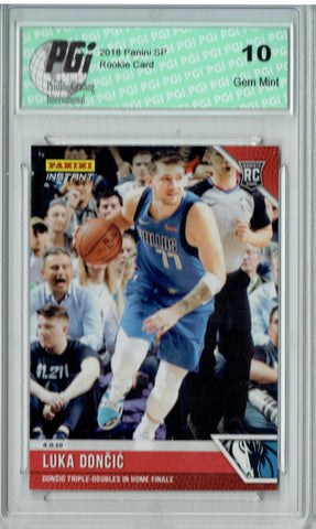 Luka Doncic 2018 Panini Instant #134 Limited to 303 Made Rookie Card PGI 10