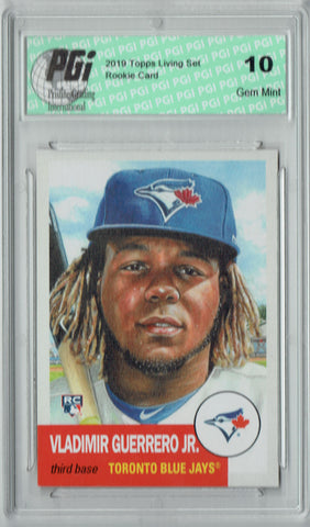 Vladimir Guerrero Jr. 2019 Topps Living Set #179 1/27k Made Rookie Card PGI 10
