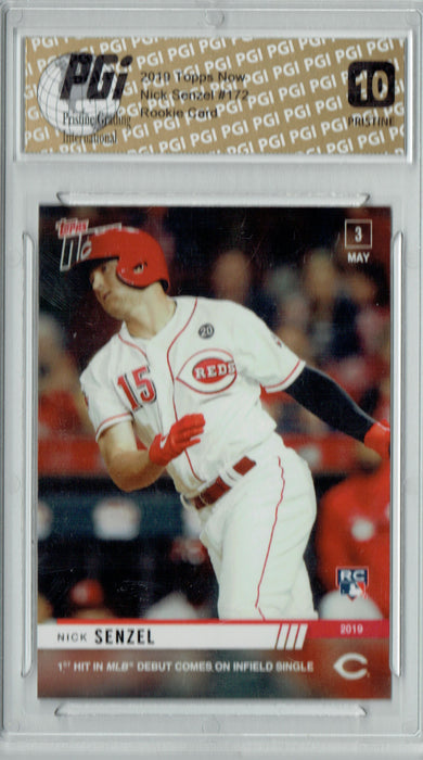 Nick Senzel 2019 Topps Now #172 PRISTINE Rookie Card PGI 10
