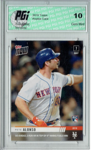 Pete Alonso 2019 Topps Now #191 687 Ever Made Rookie Card PGI 10