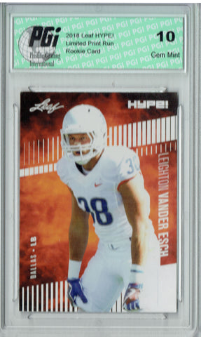 Leighton Vander Esch 2018 Leaf Hype #16 Only 5000 Made Rookie Card PGI 10
