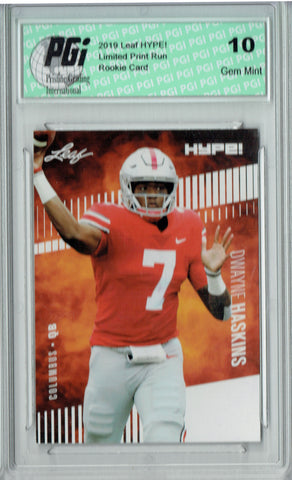 Dwayne Haskins 2019 Leaf Hype #20A Variation 5000 Made Rookie Card PGI 10