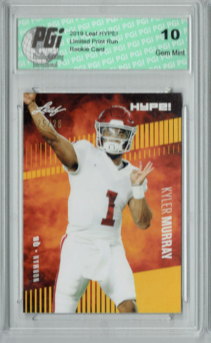 Kyler Murray 2019 Leaf HYPE! #22 Gold SP, Only 25 Made Rookie Card PGI 10