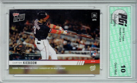 Carter Kieboom 2019 Topps Now #136 Only 2109 Made MLB Debut Rookie Card PGI 10