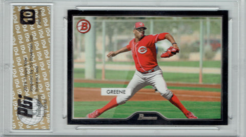 Hunter Greene 2019 Topps #17 55 Bowman PRISTINE Rookie Card PGI 10