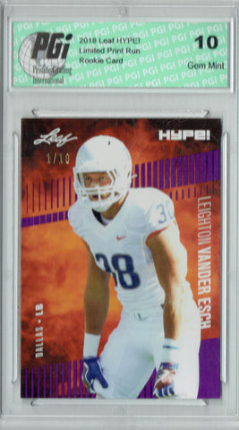 Leighton Vander Esch 2019 Leaf HYPE! #16 The 1 of 10 Rookie Card PGI 10