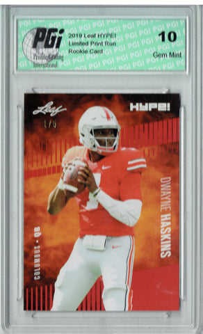 Dwayne Haskins 2019 Leaf HYPE! #20A The 1 of 5 Rookie Card PGI 10
