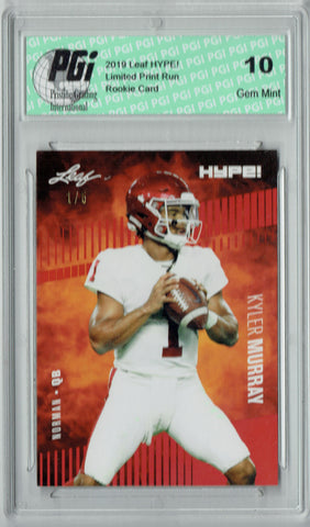 Kyler Murray 2019 Leaf HYPE! #22A Jersey #1 of 5 Rookie Card PGI 10