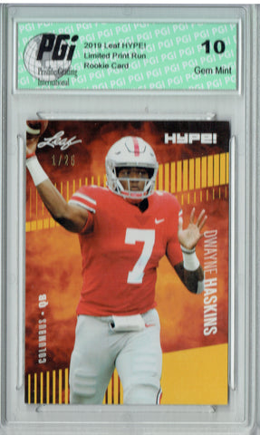 Dwayne Haskins 2019 Leaf HYPE! #20A The 1 of 25 Rookie Card PGI 10
