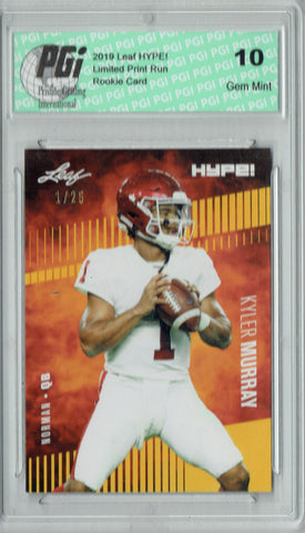 Kyler Murray 2019 Leaf HYPE! #22A Jersey #1 of 25 Rookie Card PGI 10