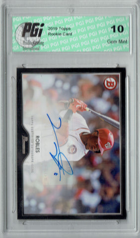 Victor Robles 2019 Topps #6A 55 Bowman SP AUTO Rookie Card PGI 10