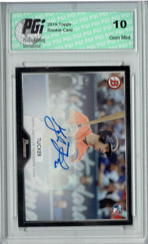 Kyle Tucker 2019 Topps #13A 55 Bowman SP AUTO Rookie Card PGI 10