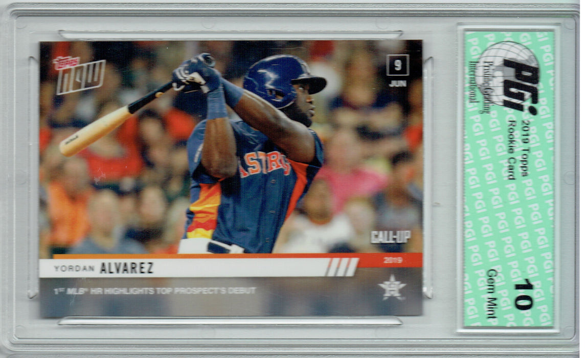 Yordan Alvarez 2019 Topps Now #351 Call-Up 2,241 Made Rookie Card PGI 10