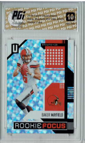 Baker Mayfield 2018 Panini Unparalleled #RF-BM PRISTINE #3/25 Rookie Card PGI 10