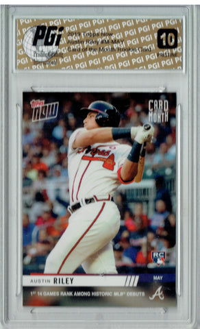 Austin Riley 2019 Topps Now #M-MAY Card of the Month PRISTINE Rookie Card PGI 10