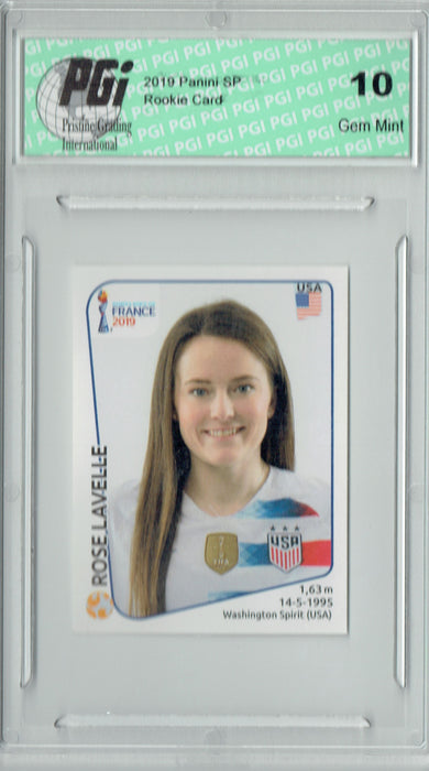 Rose Lavelle 2019 Panini #413 World Cup Sticker Rookie Card PGI 10