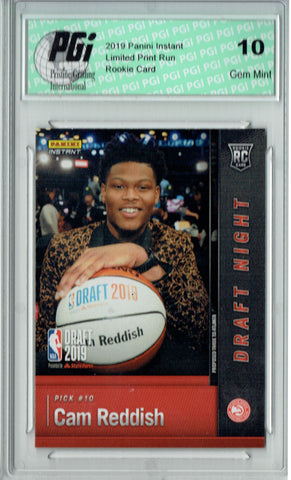 Cam Reddish 2019 Panini Instant #DN-CR 1 of 165 Made Rookie Card PGI 10