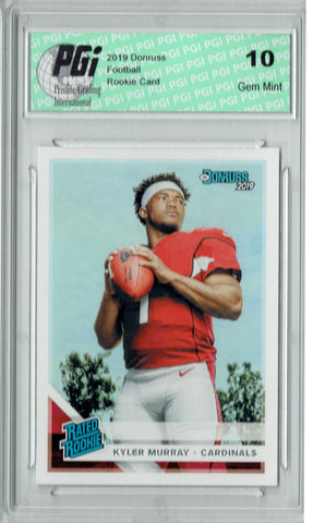 Kyler Murray 2019 Donruss #302 Rated Rookie Rookie Card PGI 10