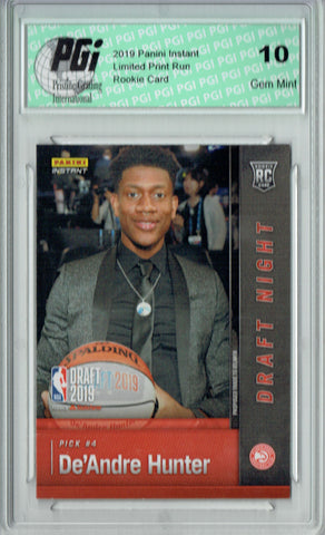 De'Andre Hunter 2019 Panini Instant #DN-DH 1 of 141 Made Rookie Card PGI 10