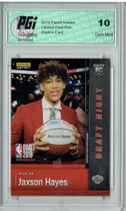 Jaxson Hayes 2019 Panini Instant #DN-JH 1 of 72 Made Rookie Card PGI 10