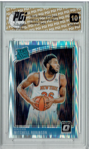 Mitchell Robinson 2018 Donruss Optic Shock #163 PRISTINE Rookie Card PGI 10