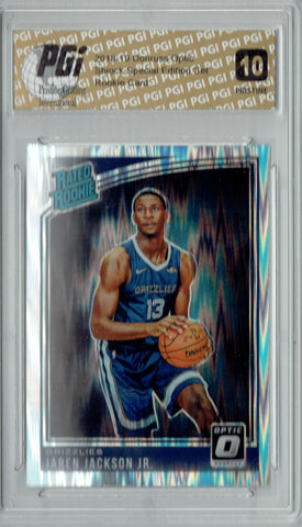 Jaren Jackson Jr. 2018 Donruss Optic Shock #188 PRISTINE Rookie Card PGI 10