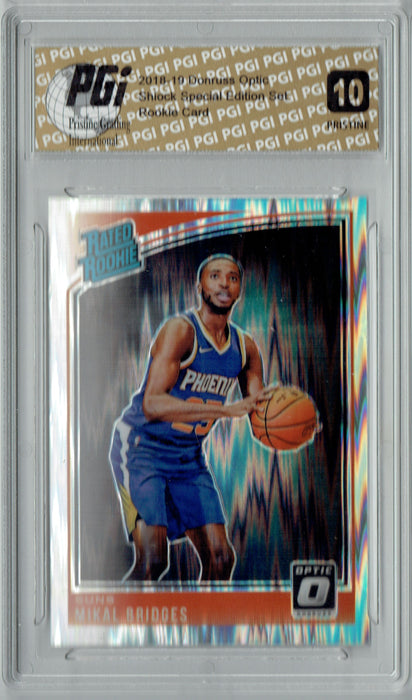 Mikal Bridges 2018 Donruss Optic Shock #200 PRISTINE Rookie Card PGI 10