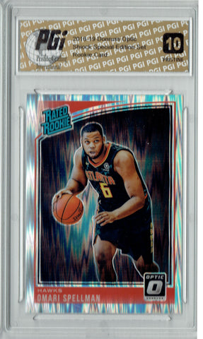 Omari Spellman 2018 Donruss Optic Shock #196 PRISTINE Rookie Card PGI 10