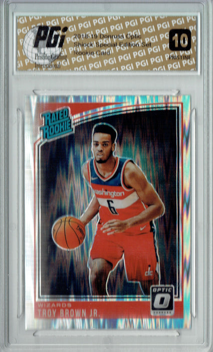 Troy Brown Jr. 2018 Donruss Optic Shock #192 PRISTINE Rookie Card PGI 10