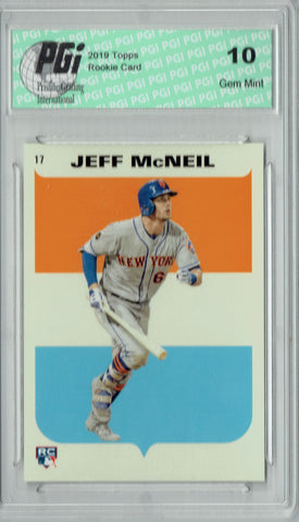 Jeff McNeil 2019 Topps #17 582 Montgomery '67 Sticker Rookie Card PGI 10