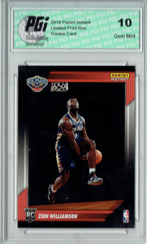 Zion Williamson 2019 Panini Instant #FLZW First Look 1 of 14k Rookie Card PGI 10