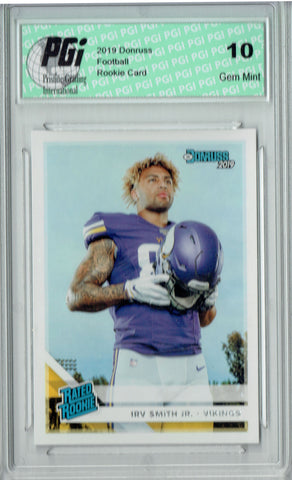 Irv Smith Jr. 2019 Donruss Football #324 Gem Mint Rookie Card PGI 10