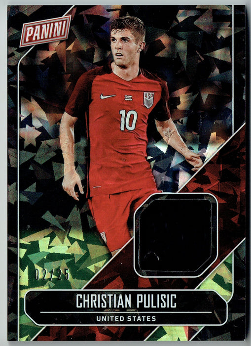 Christian Pulisic 2018 Panini Cracked Ice Patch 2/25 Cracked Ice #2/25 USA #CP