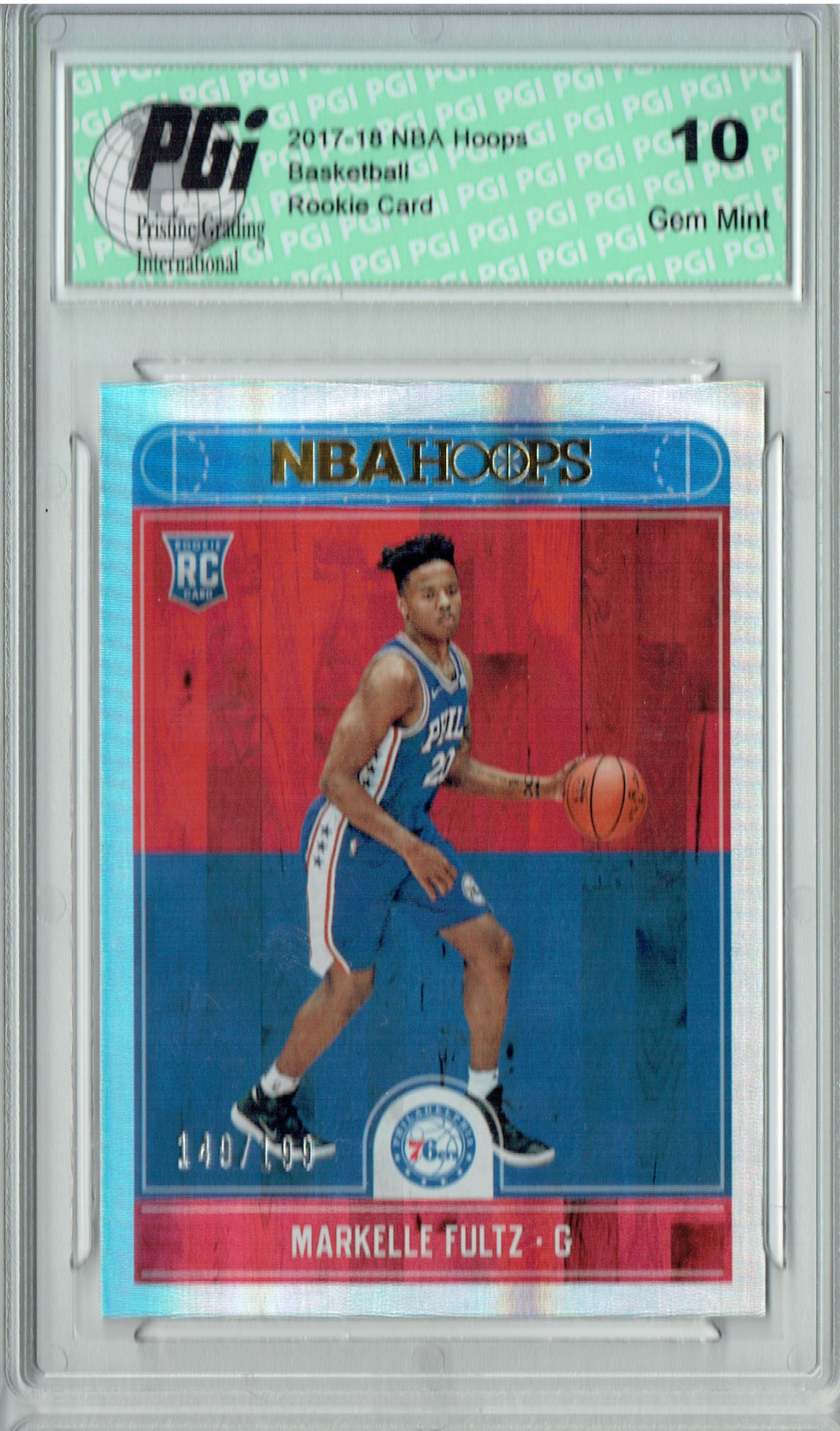 Markelle Fultz 2017 Hoops #251 Silver SP, Only 199 Made Rookie Card PGI 10
