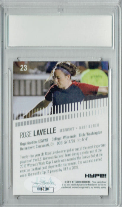 Rose Lavelle 2019 HYPE #23 JSA Auto Purple 1 of 1 Rookie Card PGI 10