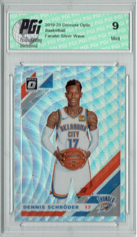 Dennis Schroder 2019 Optic #133 Fanatics Silver Wave SP Card PGI 9