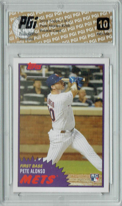 Pete Alonso 2019 Topps TBT #288 PRISTINE Rookie Card PGI 10