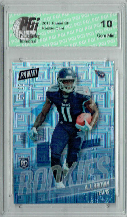 A.J. Brown 2019 Panini #RC15 Squares SSP Only 25 Made Rookie Card PGI 10