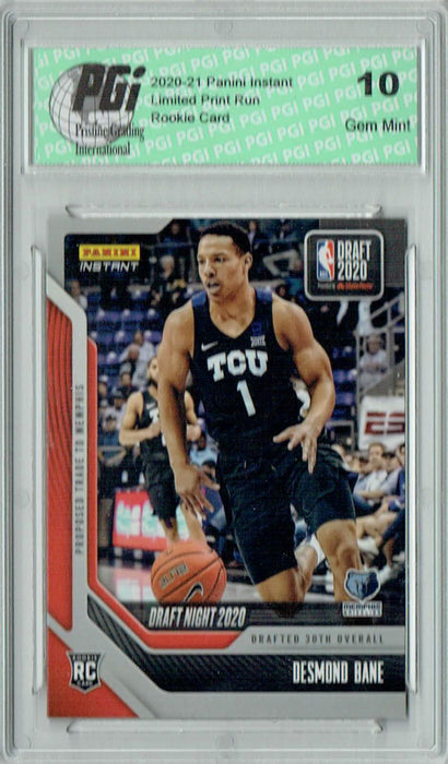 Desmond Bane 2020 Panini Instant Draft Night #DN7 298 Made Rookie Card PGI 10