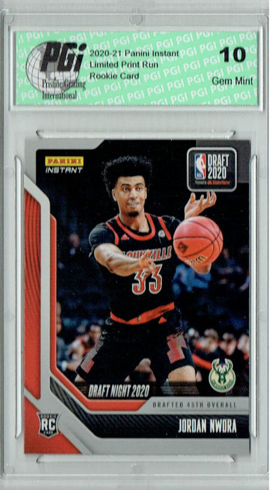 Jordan Nwora 2020 Panini Instant Draft Night #DN14 290 Made Rookie Card PGI 10