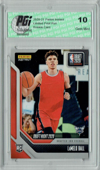 Lamelo Ball 2020 Panini Instant Draft Night #DN18 3073 Made Rookie Card PGI 10